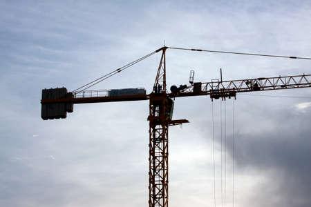 crane, sky in background