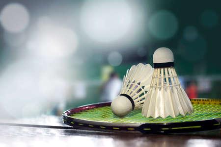 badminton shuttlecock Stock Photo