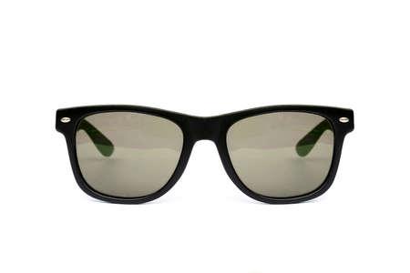 wayfarer: Sunglasses wayfarer shape isolated on white background, Modern sunglasses, Stems, Brown, Sepia