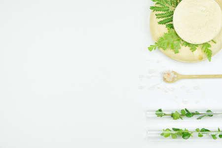 美容製品、有機性美容化粧品製品コンセプト コピー スペース自然な背景は。