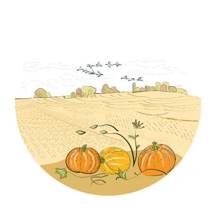 A sketch of a rural landscape