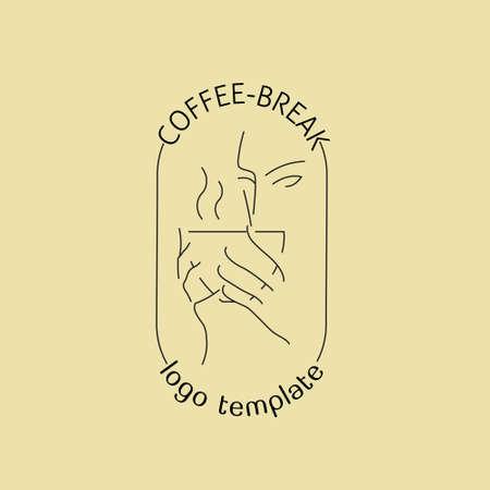 Coffee break emblem