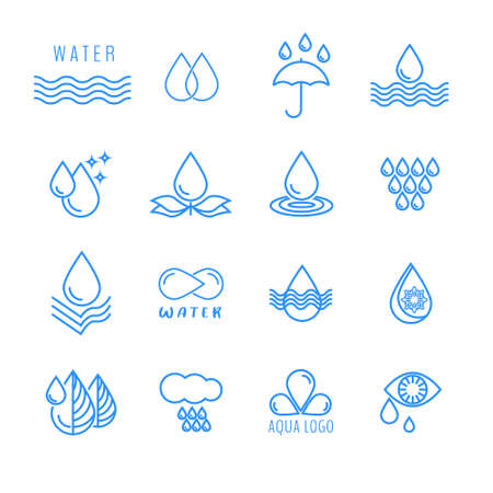 A set of vector icons water drop