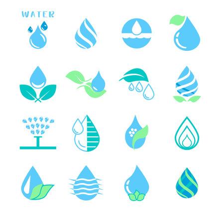 Vector set of water drop icons