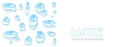 Vector set of water drops