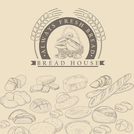 Bakery , bread in a basket