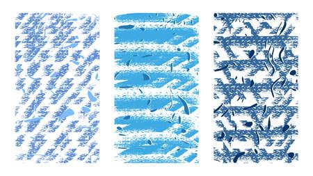 Artistic sketchy backgrounds. Christmas pattern. Hand drawn vector illustration. Illustration