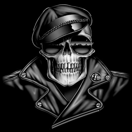 biker: Skull Biker Portrait