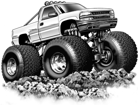 4x4: Cartoon 4x4 Pickup Truck