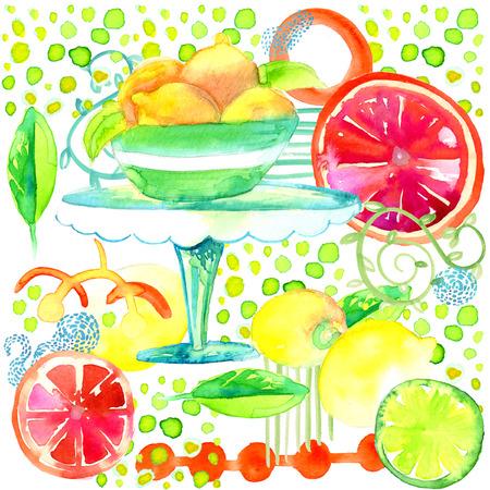 Lemonade Party Illustration Summer Fun