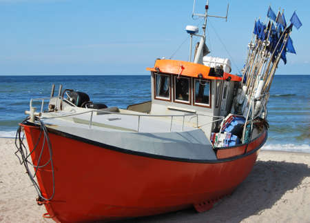 boat on beach Stock Photo - 18410945