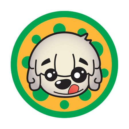 Happy little dog 向量圖像