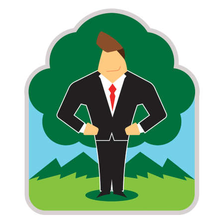 Business man in nature 向量圖像