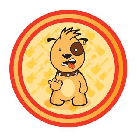Little rocker dog Stock Vector - 47937541