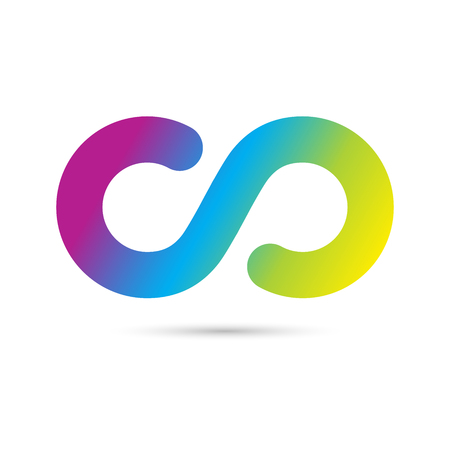 Vector illustration concept of eternity logo. Colorful on white background
