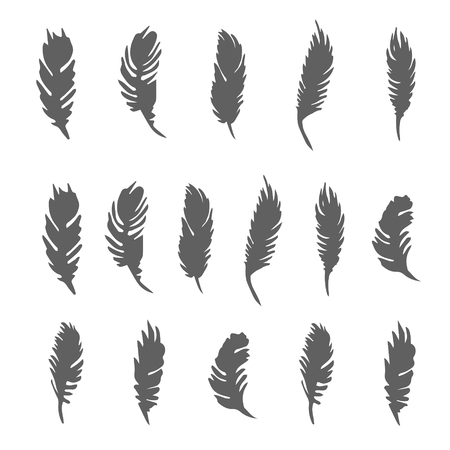 Vector Hand drawn sketch of abstract feather illustration Vectores