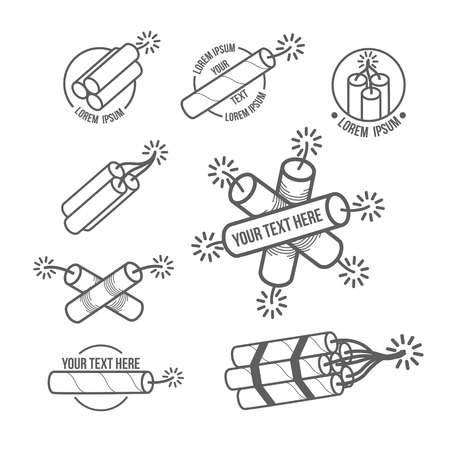 Vector illustration concept of dynamite on white background