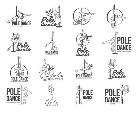 Vektorillustrationskonzept des Stripteasemädchens. Symbol auf weißem Hintergrund