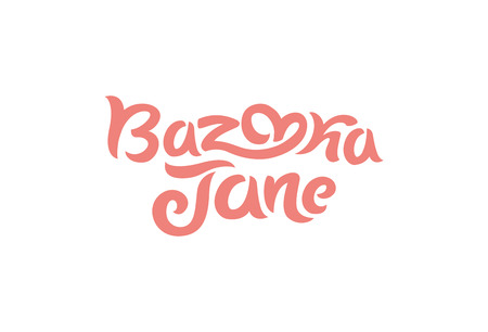 Vector illustration concept of a bazooka Jane logo. Lettering on white background