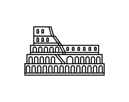 Coliseum vector icon. Italian symbol logo illustration. Logo