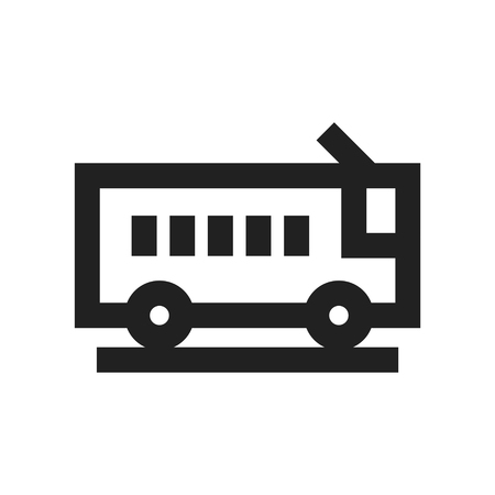 Vector illustration concept of Bus transport icon. Illustration