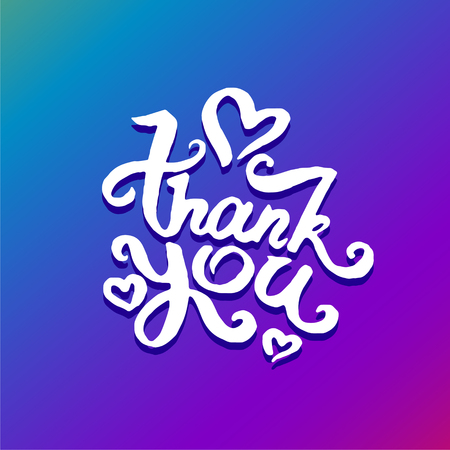 Vector illustration concept of Thank you phrase word illustration