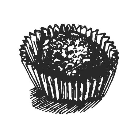 Vector hand drawn illustration of candy illustration