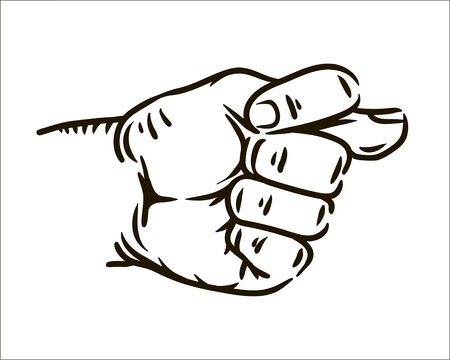 Vector Muzzle fig hand simple sketch illustration
