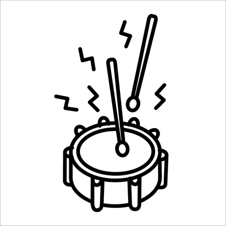 Drum music instrument icon vector illustration