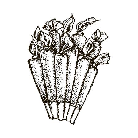 Vector hand drawn illustration of Medical marijuana silhouette