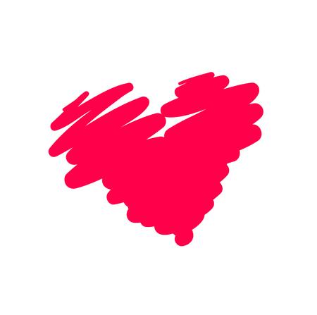 Red Heart icon minimalism vector illustration symbol