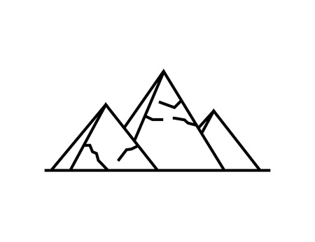 Pyramids icon. Simple illustration of pyramids vector icon for the web