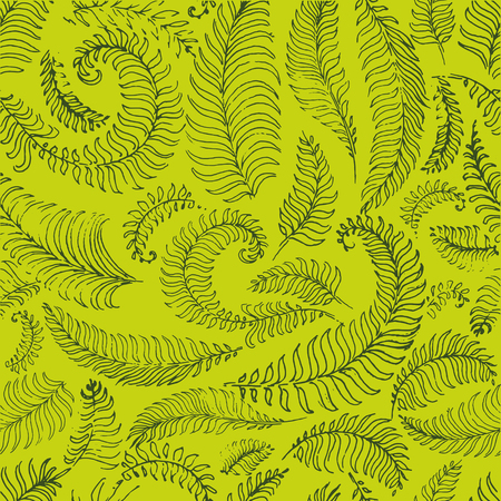 Tropical palm leaves, jungle leaves seamless vector floral pattern illustration