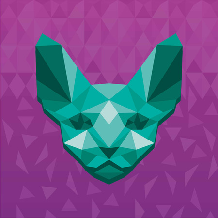 Vector illustration concept of polygonal sphinx.