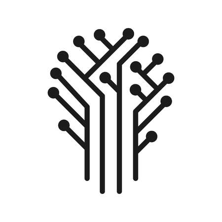 Vector illustration concept of Technical circuit tree graphic.