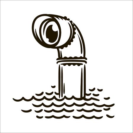 Vector hand drawn Periscope simple sketch illustration