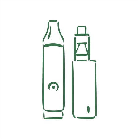 Vector hand drawn  vaporizers illustration on white background 矢量图像
