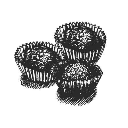 Vector hand drawn illustration of candy illustration