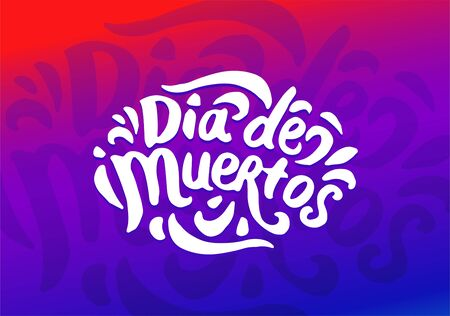 Dia de Muertos festival colorful illustration