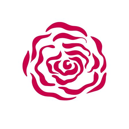 Vector rose symbol illustration on white background