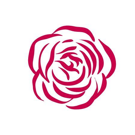 Vector rose symbol illustration on white background