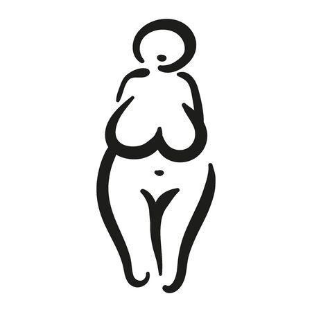The matriarchy archeology female symbol of the Great Mother Goddess. Standard-Bild - 135764276