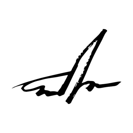 Unreadable handwriting font signature text on white background