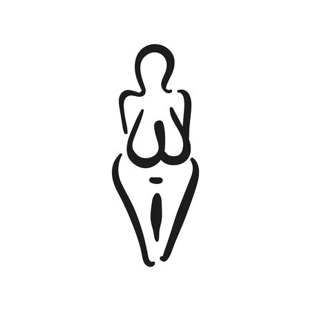 The matriarchy archeology female symbol of the Great Mother Goddess.