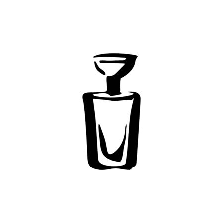 Perfume fragrance bottle sketch on white background Standard-Bild - 135764354