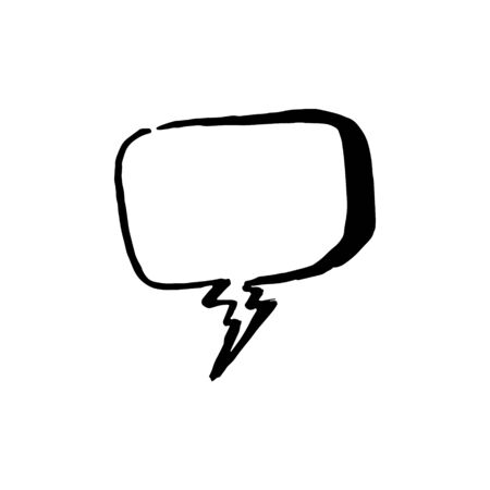 Dialog chat bubble illustration on white background