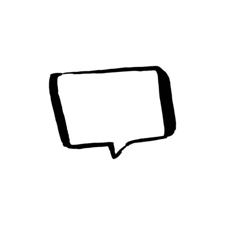 Dialog talk chat bubble illustration on white background