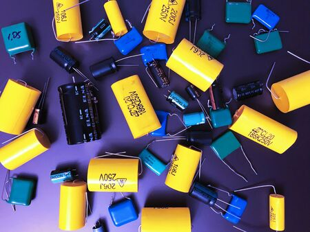 Group of audiophile metal-film axial capacitors different