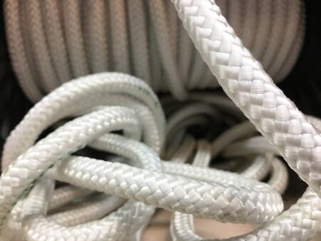 background image of marine white rope cable