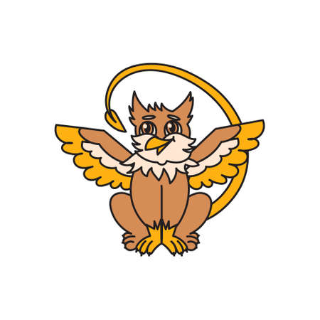 Griffin kid animal cute character